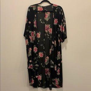 Floral kimono jacket
